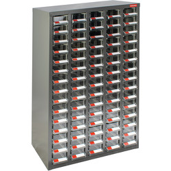 Barton Small Parts Steel Cabinet without Doors 75 Drawers - 937 x 586 x 222mm - 98549 - from Toolstation