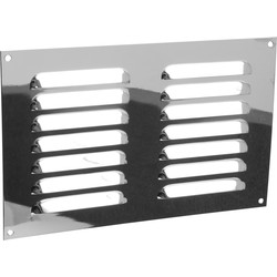"Metal Vent 9"" x 6"" Chrome - 98593 - from Toolstation"