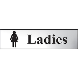Chrome Effect Door Sign Ladies - 98646 - from Toolstation