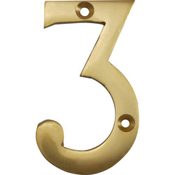 Brass Numeral 75mm 3