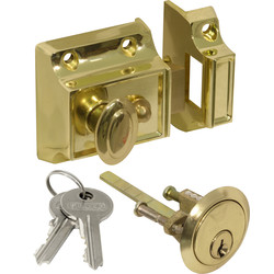 Traditional Nightlatch Brass Narrow - 98735 - from Toolstation