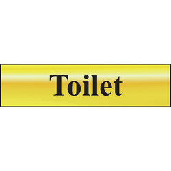 Brass Effect Door Sign Toilet - 98769 - from Toolstation