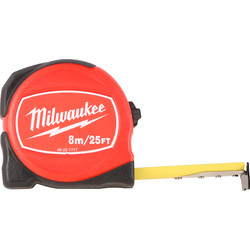 Milwaukee Milwaukee Compact Tape Measure 8m/26ft - 98813 - from Toolstation