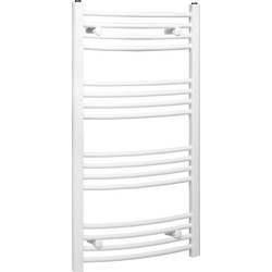 Qual-Rad White Curved Towel Radiator 1200 x 550mm 1856Btu - 98904 - from Toolstation