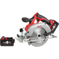Milwaukee Milwaukee HD18CS-402B 18V Li-Ion 165mm Cordless Circular Saw 2 x 4.0Ah - 98982 - from Toolstation