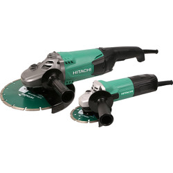 Hitachi G23ST / G12ST 115mm & 230mm Angle Grinder Twin Pack 240V