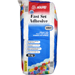 Mapei Mapei Fast Set Wall & Floor Tile Adhesive 20kg Grey - 99206 - from Toolstation