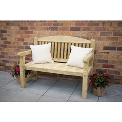 Forest Forest Garden Harvington Bench 96cm (h) x 123cm (w) x 67cm (d) - 99226 - from Toolstation