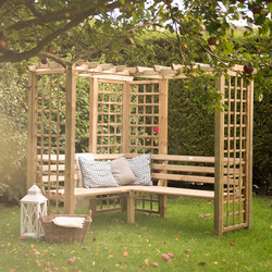 Forest Forest Garden Sorrento Arbour 202cm (h) x 217cm (w) x 199cm (d) - 99244 - from Toolstation