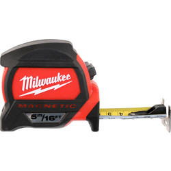 Milwaukee Milwaukee Premium Magnetic Tape Measure 5m/16ft - 99376 - from Toolstation