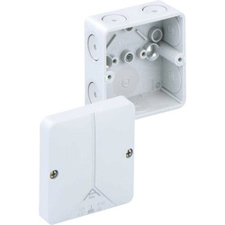 Unbranded Junction Box IP65 With Block+ External Fixing Lugs - 99418 - from Toolstation