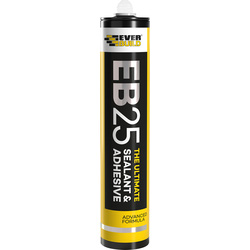 Everbuild EB25 The Ultimate Sealant & Adhesive 300ml Grey - 99644 - from Toolstation