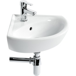 Armitage Shanks Armitage Shanks Sandringham 21 Corner Basin 1 Tap Hole White - 99840 - from Toolstation
