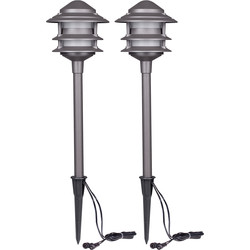 Duracell Duracell Pagoda LV LED Garden Pathway Light IP44 100lm - 99863 - from Toolstation
