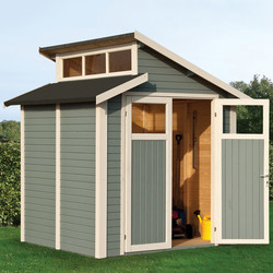 Rowlinson Rowlinson Skylight Shed Painted Light Grey 7' x 7' - 99894 - from Toolstation