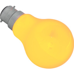 Coloured Lamp 25W BC Amber 55lm - 99934 - from Toolstation