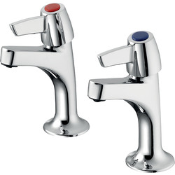 Armitage Shanks Sandringham 21 High Neck Sink Pillar Taps Lever Handles