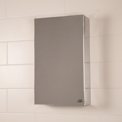 Croydex Single Door Stainless Steel Bathroom Cabinet