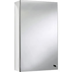 Croydex Croydex Single Door Stainless Steel Bathroom Cabinet 500 x 300 x 120mm - 99975 - from Toolstation