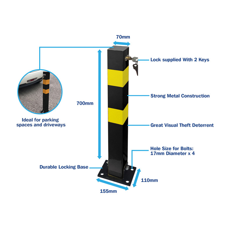 Heavy Duty Folding Parking Post