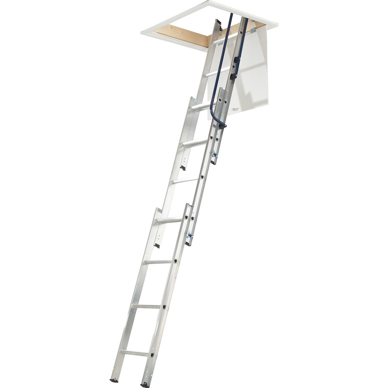 Werner 3 Section Easystow Loft Ladder & Handrail