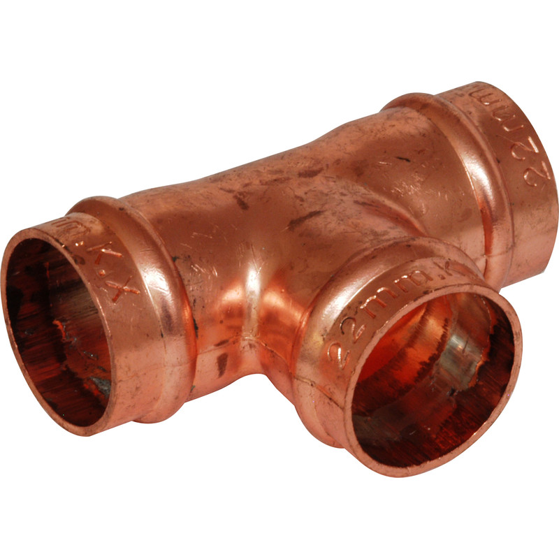 15mm EQUAL TEE T COPPER PACK OF 5 SOLDER RING