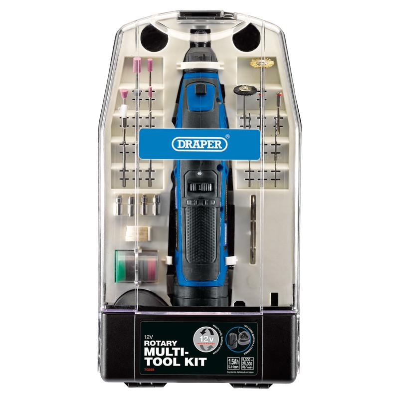 Draper 12V Rotary Multi-Tool Kit (50 piece)