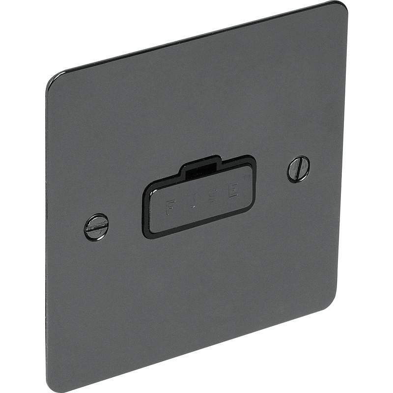 Flat Plate Black Nickel Fused Spur 13A