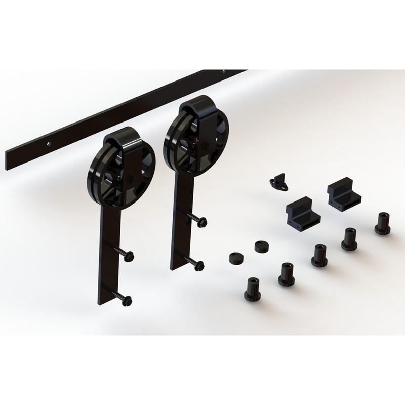 Coburn Flat Track 100 Wagon Wheel Hanger One Door System
