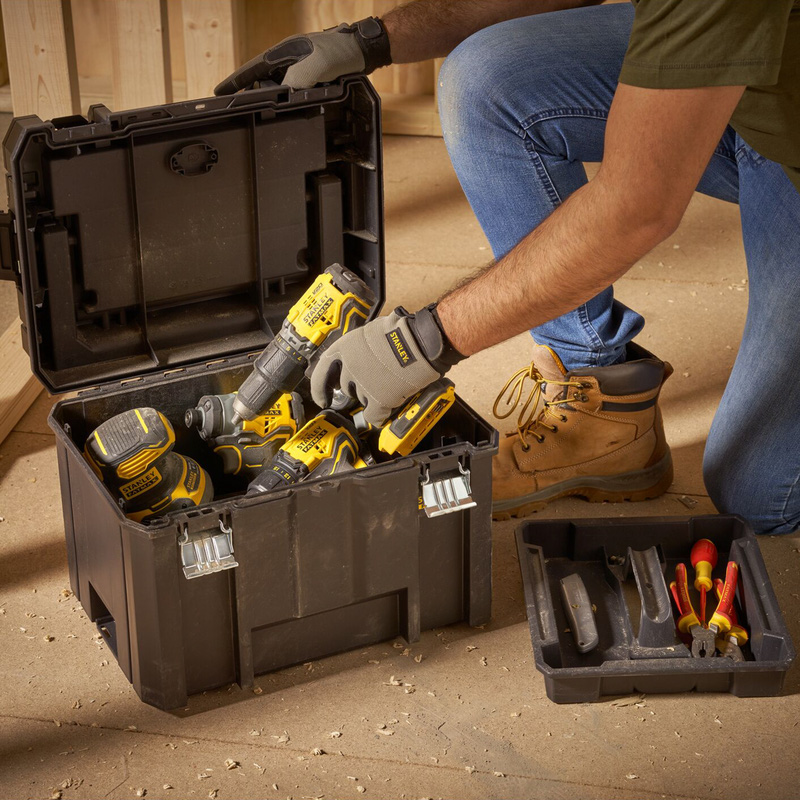 Stanley FatMax Pro-Stack Deep Box With Organiser Top