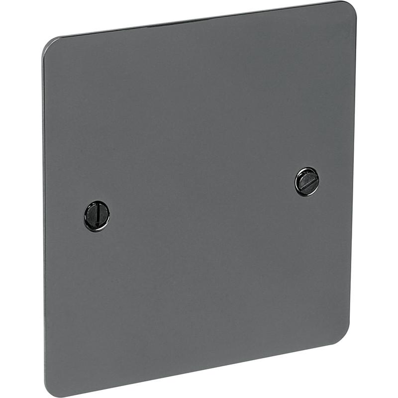 Flat Plate Black Nickel Blank Plate