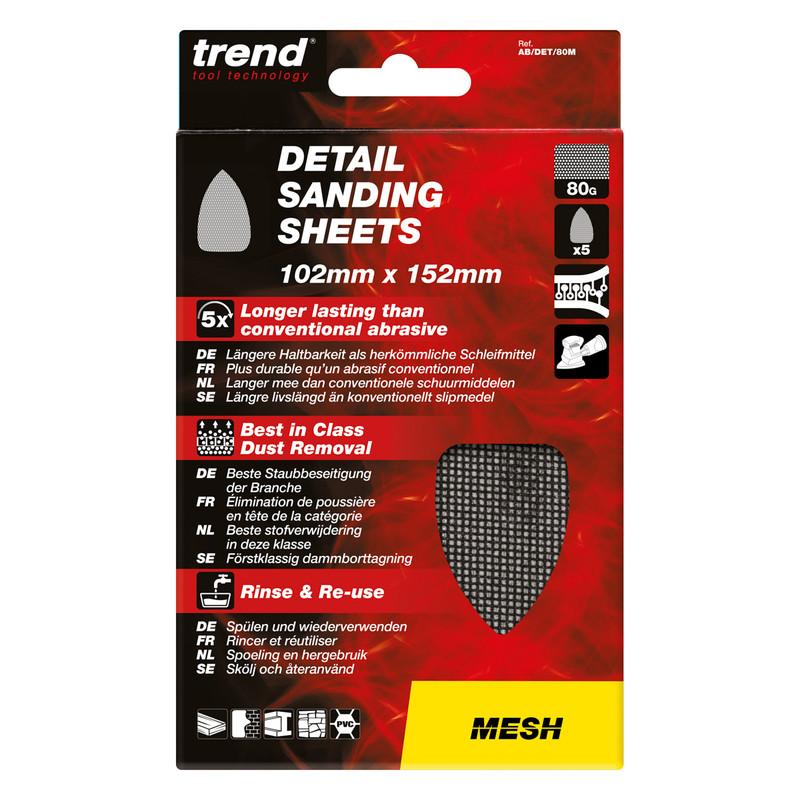 Trend Mesh Detail Sanding Sheet 102mm x 152mm