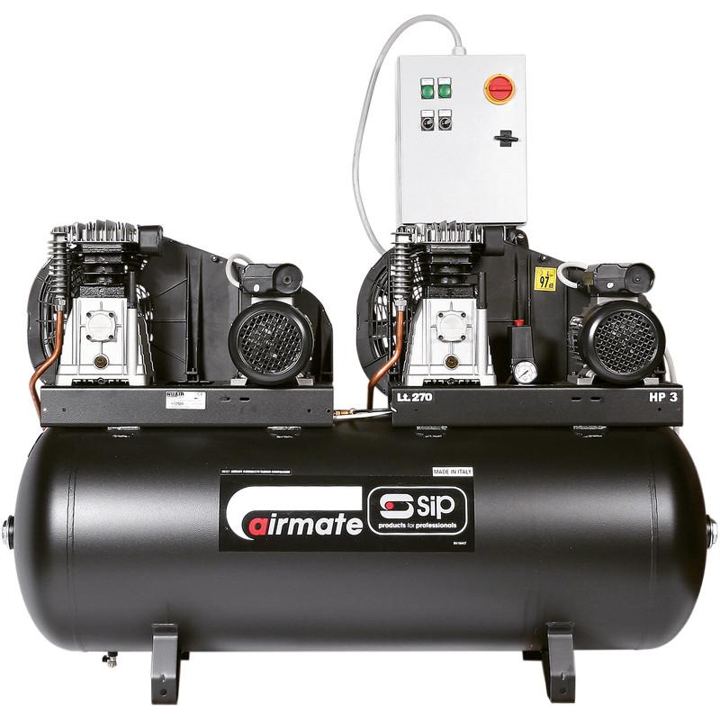 SIP 05251 Tandem 270L 2 x 3HP Compressor