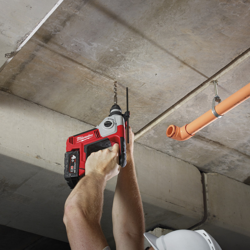 Milwaukee M18BH-40 18V Li-Ion Cordless 2 Mode SDS Plus Rotary Hammer Drill