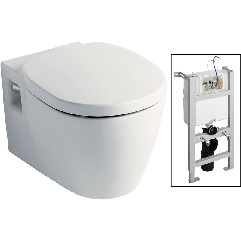 Ideal Standard Toilet.Ideal Standard Senses Wall Hung Toilet