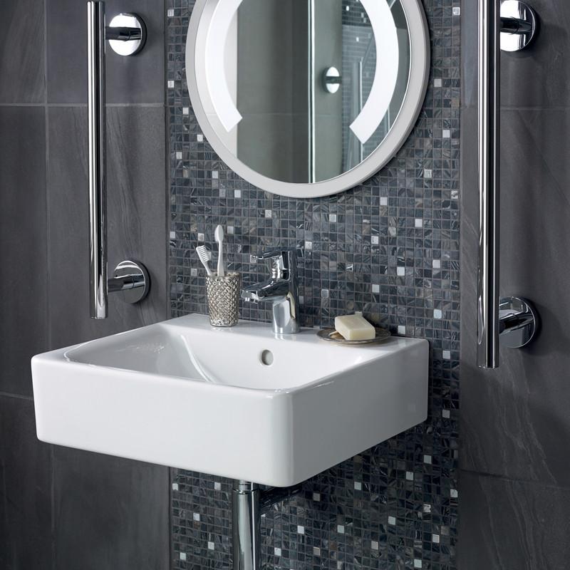 Ideal Standard Senses Cube Wall Hung Basin & Pedestal