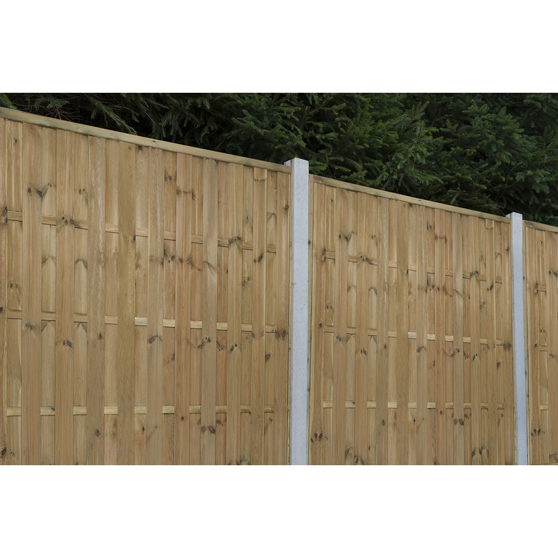 Forest Garden Pressure Treated Vertical Hit & Miss Fence Panel - 5ft