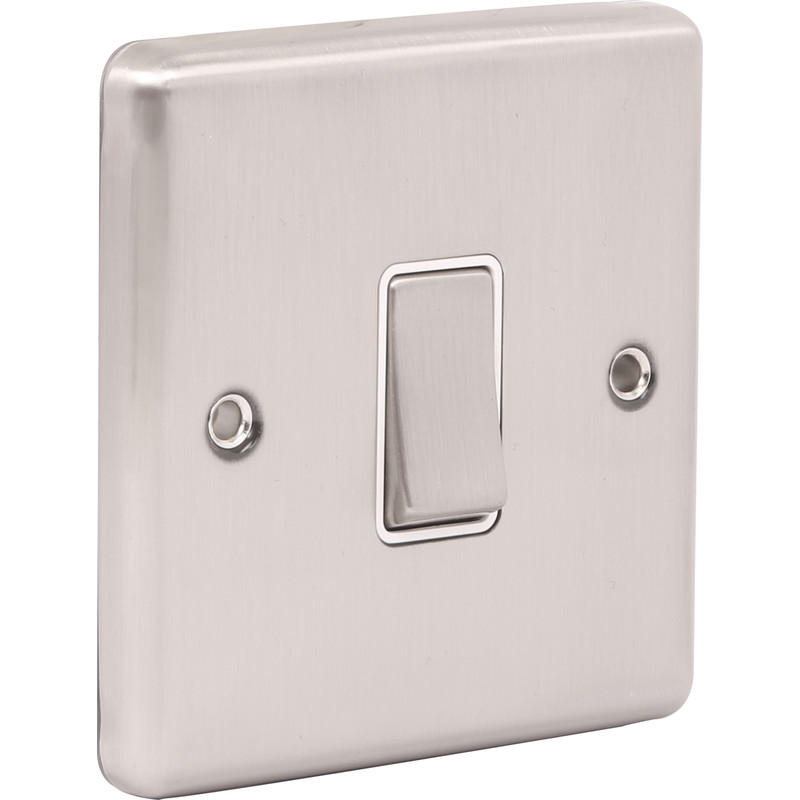 Wessex Brushed Stainless Steel Switch