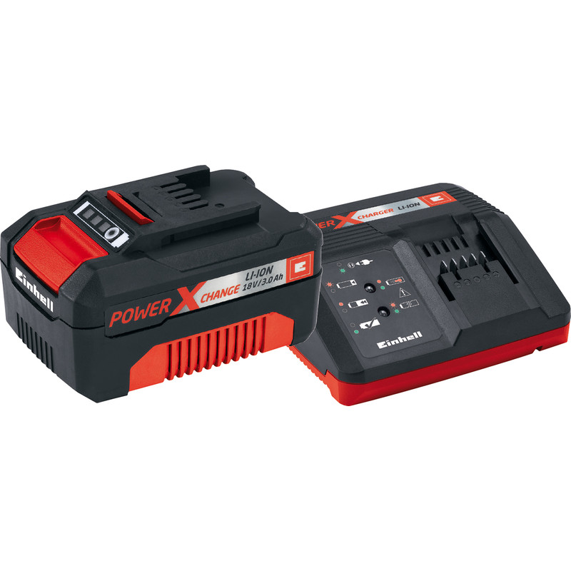 einhell power x change 18v li ion battery charger 3 0ah. Black Bedroom Furniture Sets. Home Design Ideas