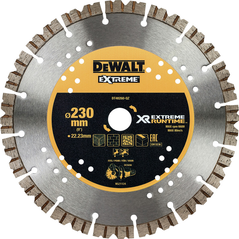 DeWalt Extreme Runtime Diamond Wheel