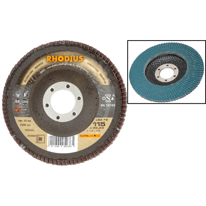 "5 Pack 7/"" x 5//8/""-11 80 Grit Zirconia Flap Discs Grinding Wheels T29 with Hub"