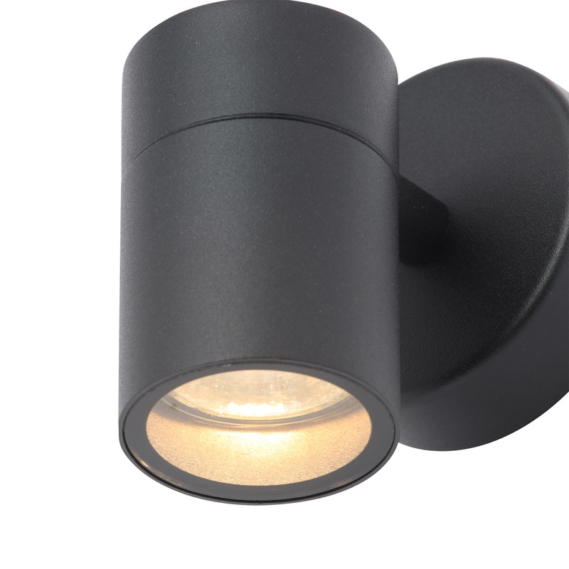 Leto Black Stainless Steel Up or Down Wall Light IP44
