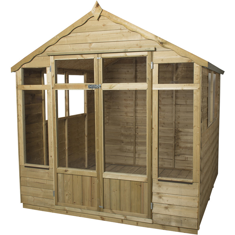 Forest Garden Overlap Pressure Treated Oakley Summerhouse
