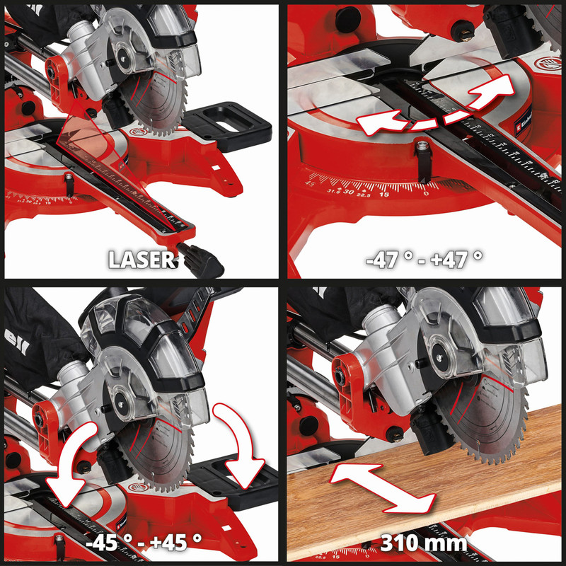 Einhell 210mm Double Bevel Sliding Mitre Saw