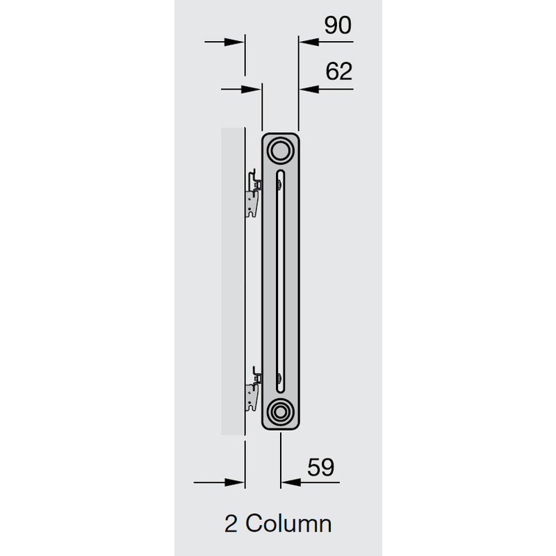 Arlberg 2 Column Horizontal Radiator