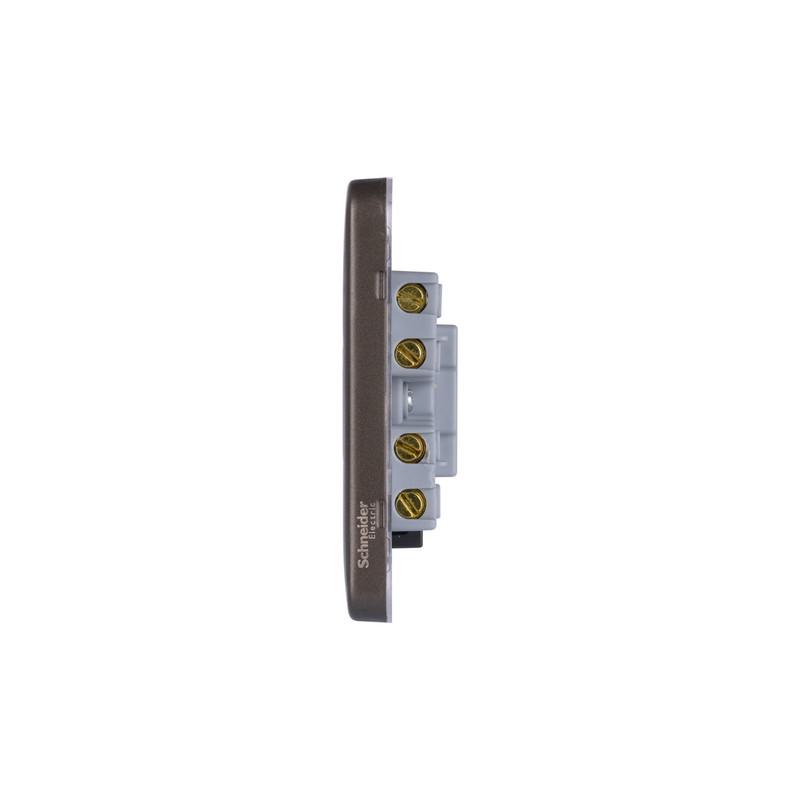 Schneider Electric Lisse Mocha Bronze Screwless 13A DP Spur Unit