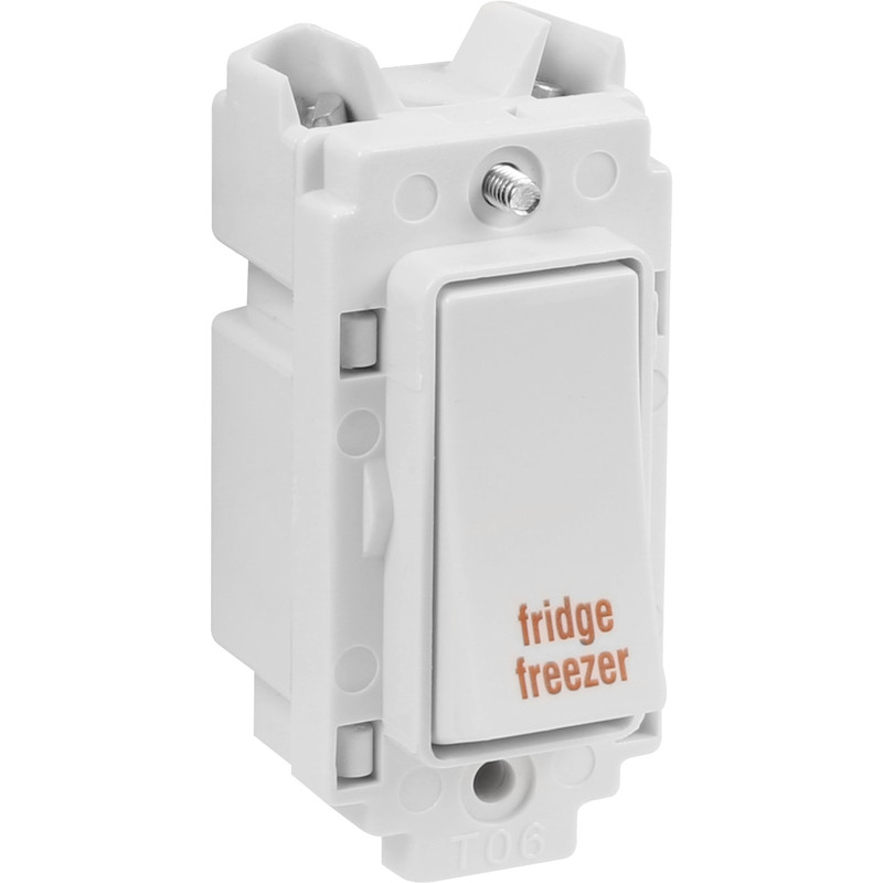 Crabtree Rockergrid 20A 1 Way DP Engraved Rockergrid Switch Module