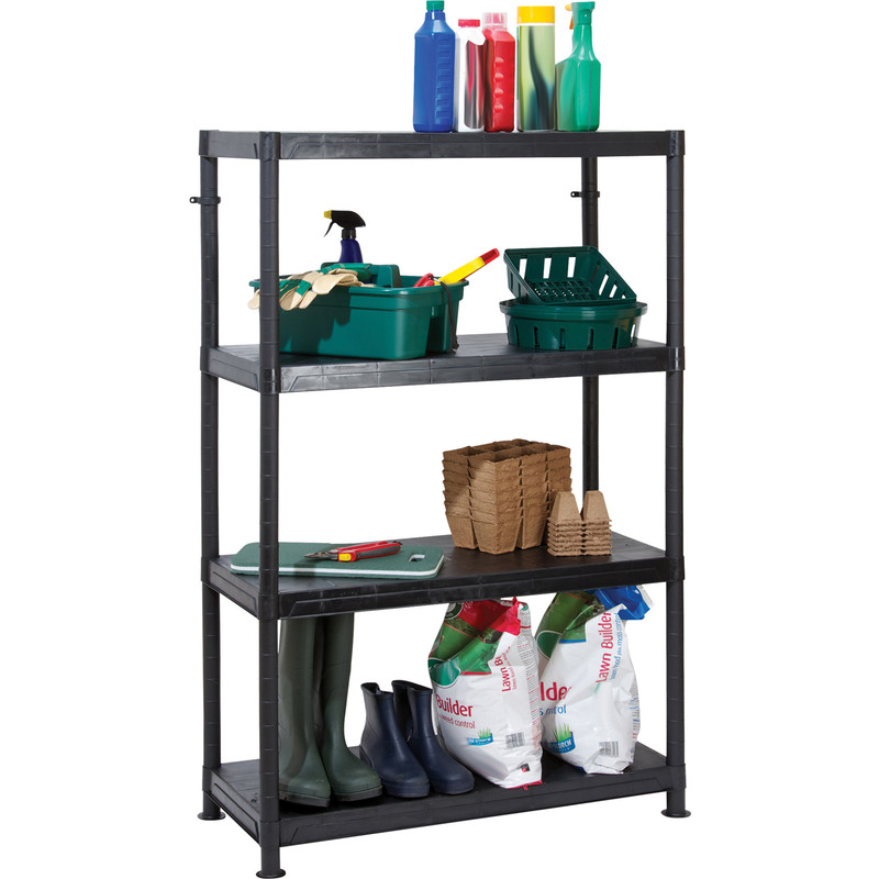 Plastic 4 Tier Shelving Unit
