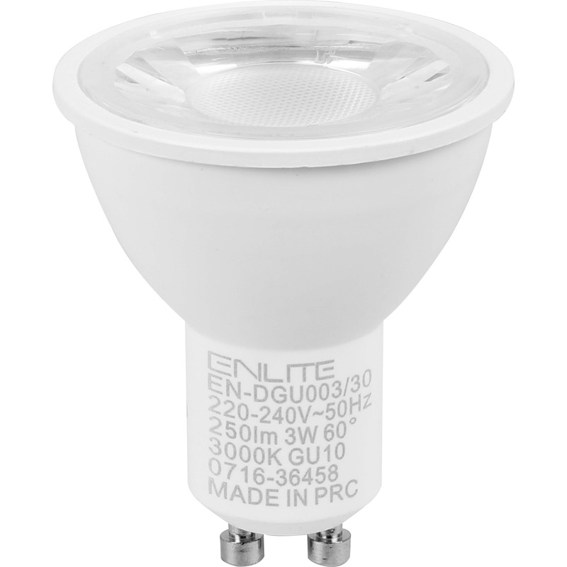 Enlite ICE LED 3W GU10 Dimmable Lamp