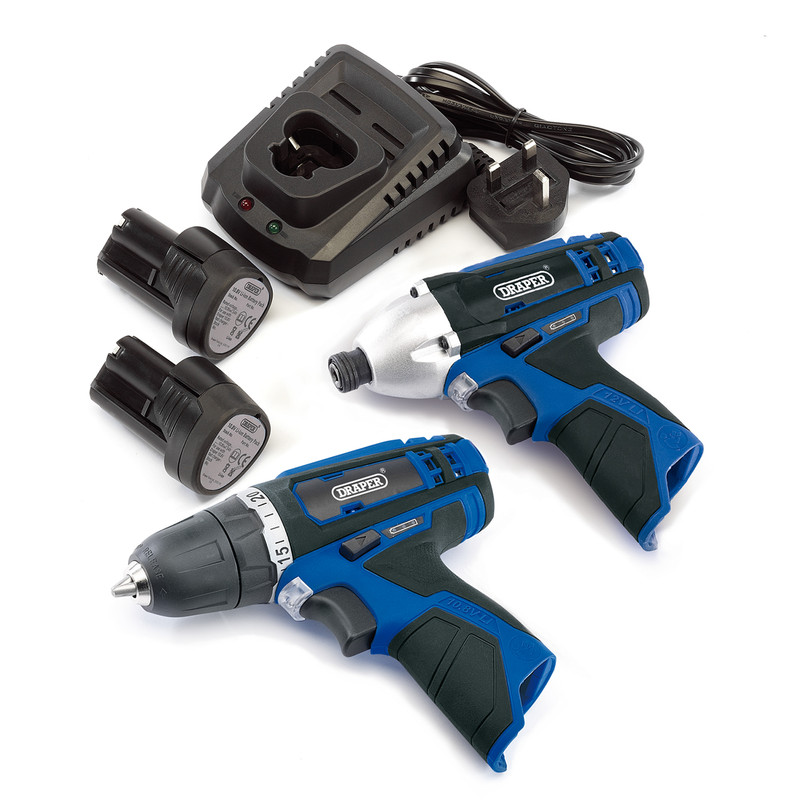 Draper 20849 10.8V Li-Ion Cordless Twin Pack
